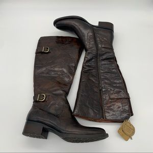 Born Womens Gibb Brown Boots Size 6.5 M. Wide calf
